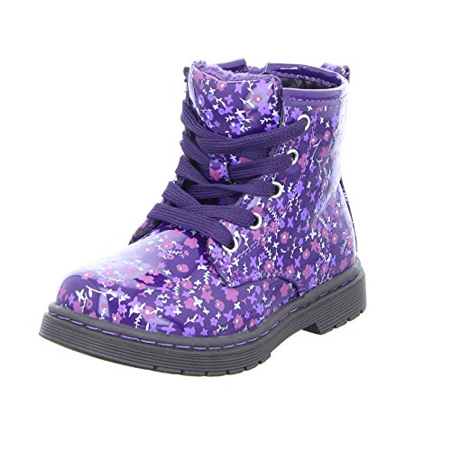 girlZ onlY Schnürstiefel 4023X05-PU Mädchen Boots Wasserfest Warmfutter Lila