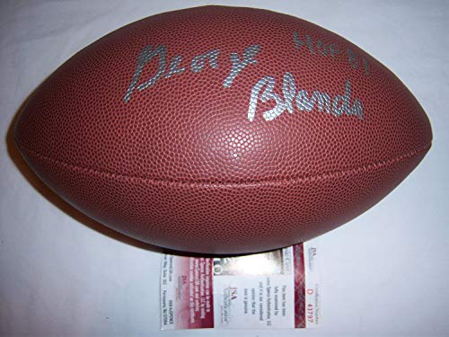 George Blanda Raiders JSA Autographed Signed Football - Certified Authentic