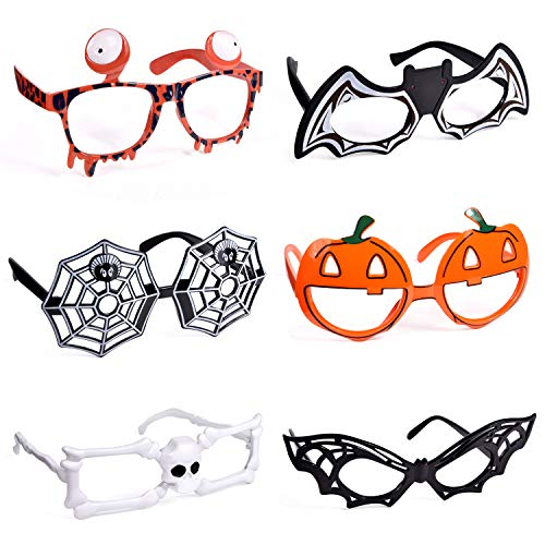 Spooky Halloween Crafts Adults (6 Pack Halloween Glasses for Halloween Costume Party Favors, Cute Toy Glasses for Halloween Party)