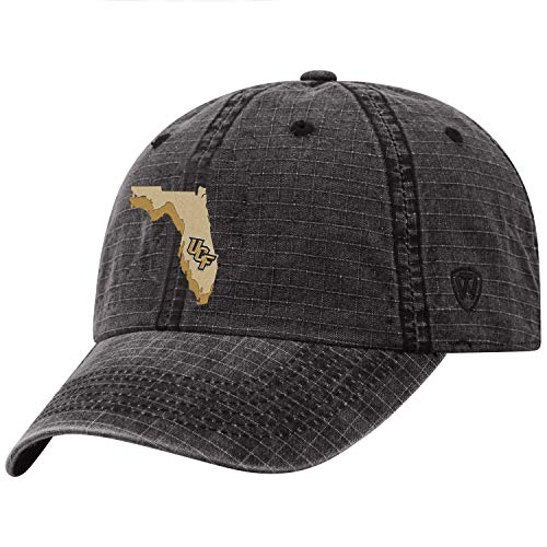 Golf Central Gear Florida - Top of the World Central Florida Knights Official NCAA Adjustable Stateline Cotton Hat Cap 456546