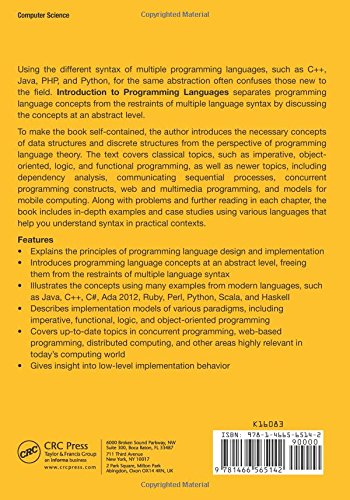 Introduction to Programming Languages by Brand: Chapman and Hall/CRC