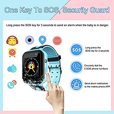 Kids Smart Watch for Girls Boys - IP67 Waterproof Children Smartwatch with GPS/LBS Position Tracker