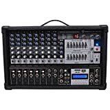 Rockville RPM109 RPM109 12 Channel 4800w Powered Mixer, 7 Band EQ, Effects, USB, 48V
