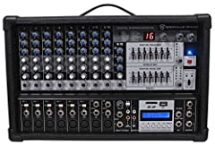 This item is insanely loud and has clean sound! If you are not happy in 90 days we will take the item back for a full refund! The Rockville RPM109 is a 12 channel wood cabinet powered mixer with USB/SD input and LCD display. This mixer is one...