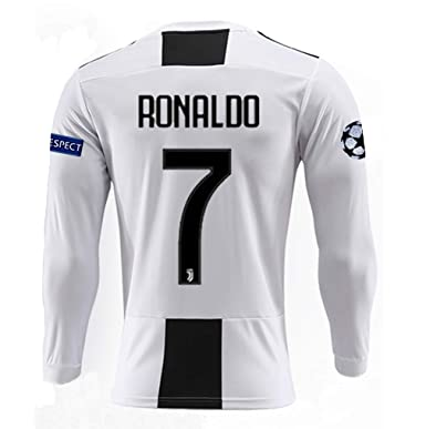 BDKHVU Juventus 18 19 Season  7 Ronaldo Mens Home Long Sleeve Soccer Jersey    6e4730c16