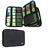 BUBM Universal Cable Organizer Electronics Accessories Case Various USB, Phone, Charge, Cable organizer Travel Organizer/Cosmetic Bag- Double Layer Black