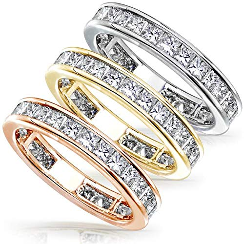 - Diamond Eternity Wedding Band 2 carat (ctw) in 14K Gold, Size 5.5, Yellow Gold