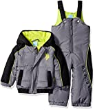 U.S. Polo Assn. Baby Boys' Sporty Heavyweight Bubble Snow Suit, Shadow, 12 Months