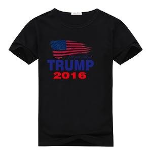Jeaniscat Women's Fashion Trump For President 2016 Sleevery T-Shirt Black