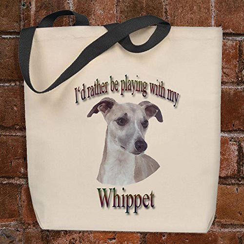 I'd Rather Be Playing With My Whippet - Tote (Whippet Tote Bag)