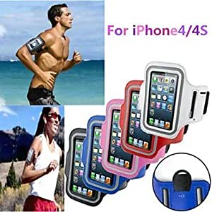 ZCL Gym Running Sport Arm Band Armband Case Cover for iPhone 4/4S(Assorted Colors) , Purple