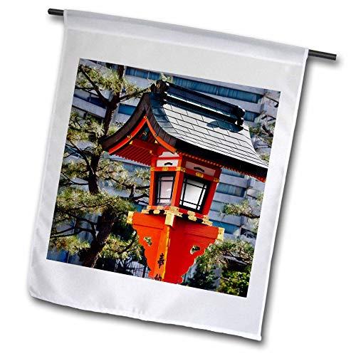 - 3dRose Danita Delimont - Japan - Red Lantern in Fushimi Inari Shrine, Kyoto, Japan - 18 x 27 inch Garden Flag (fl_312771_2)