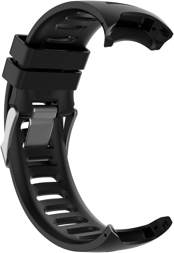 Lokeke - Correa de repuesto para reloj inteligente Garmin Forerunner 610 (silicona negra)