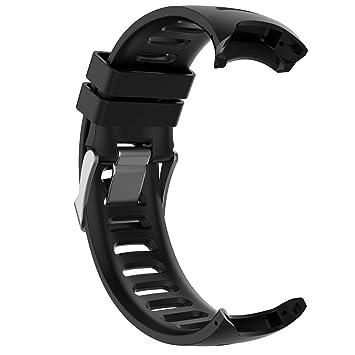LOKEKE Correa de Repuesto de Silicona para Reloj Inteligente Garmin Forerunner 610, Compatible con Garmin Forerunner 610: Amazon.es: Electrónica