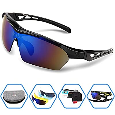 Torege Polarized Sports Sunglasses For Cycling Running Fishing Golf TR003