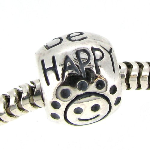 925 Sterling Silver Round Don T Worry Be Happy Smiley