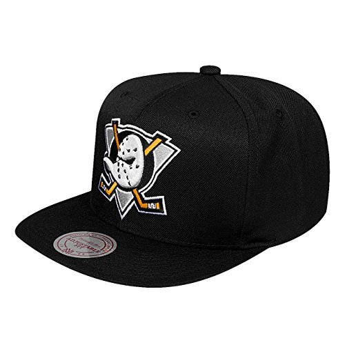 Mitchell & Ness Homme Casquettes / Snapback Wool Solid noir Réglable
