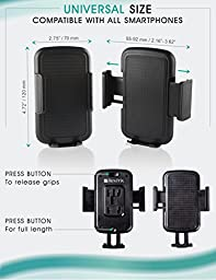 Bestrix Universal CD Slot Smartphone Car Mount Holder for iPhone 7, 6, 6S Plus 5S, 5C, 5, 4S, 4, Samsung Galaxy S2 S3 S4 S5 S6 S7 Edge/Plus Note 2 3 4 5 LG G2 G3 G4 G5 all smartphones up to 6\