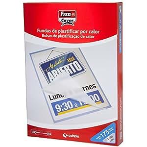 Amazon.com : Fixo 1023100 - Box of 100 A4 Laminating Pouch ...