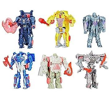 Mega-Set 6 Transformers El último Caballero - 1 Paso Turbo Changer: Amazon.es: Juguetes y juegos