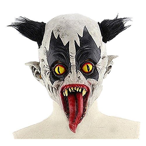 MeiLi Halloween Party Costume Snake Tongue Evil Clown (Pennywise The Clown Mask For Sale)
