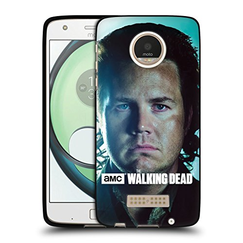 Official AMC The Walking Dead Eugene Characters Black Soft Gel Case for Motorola Moto Z Play / - Moto Eugene