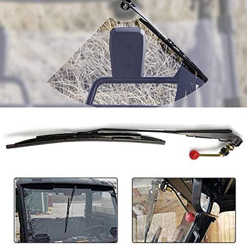 UTV Windshield Wiper Fits for Polaris Ranger RZR 900 1000 Can Am Kawasaki Honda Pioneer Golf Cart Hand Operated Manual Wiper ()