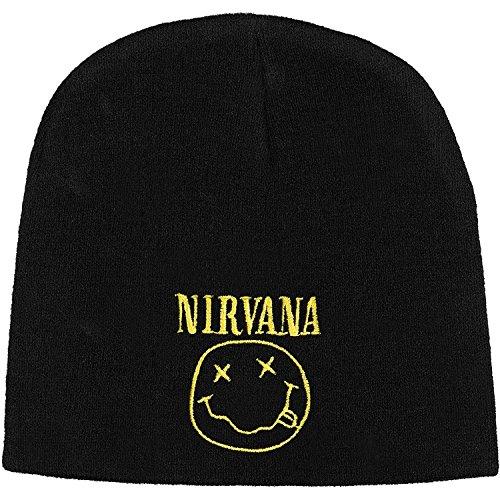 Nirvana Men's Smile Beanie Black (One size)