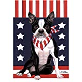 Best of Breed Boston Terrier Patriotic Breed Garden Flag For Sale