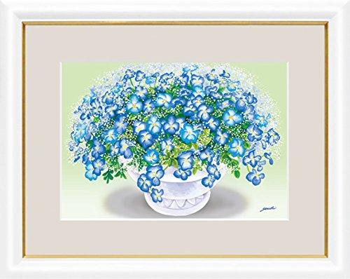 【大】風水絵額-幸せのブーケ爽やかな青いブーケ/洋美G4-AB030 B01N5PGKM5