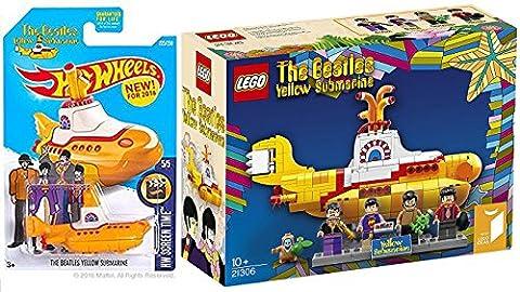 Lego Beatles & Hot Wheels Yellow Submarine New Model 2016 car set rock band Limited Edition Lego Beatles Mini (The Beatles Lego)