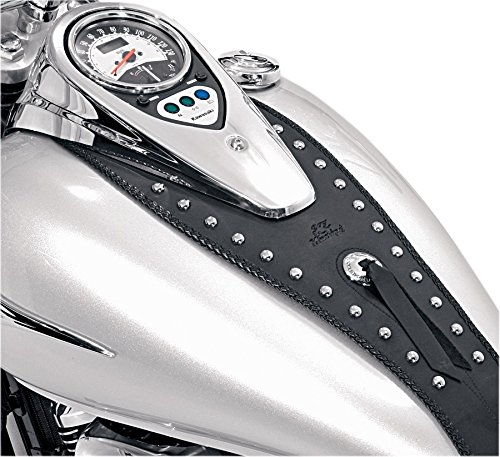 Mustang Motorcycle Seats Cruiser Studded Tank Bib with Conchoes for Kawasaki 2006-08 VN900 ()