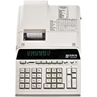 12-Digit Print/Display Genuine Monroe UltimateX Ivory, Our Top-Of-The-Line Heavy-Duty Calculator