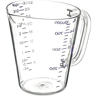 Carlisle 43143AF07 Commercial Plastic Measuring Cup, 1 Quart, Purple (Pack of 6)