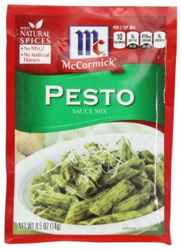 McCormick Pasta Sauce Blend, Pesto, .5-Ounce Unit (Pack of 12)