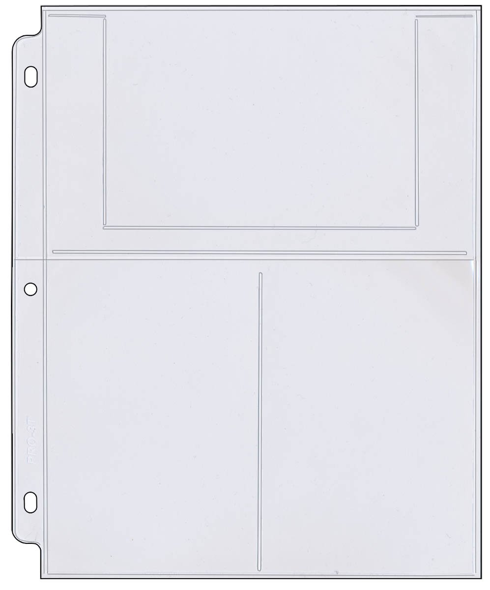 StoreSMART - Photo / Postcard Page for 3-Ring Binders - Archival-Safe Plastic - Three 4'' x 6'' pocket - Holds six photos / postcards - 25 Pack - LC46-25
