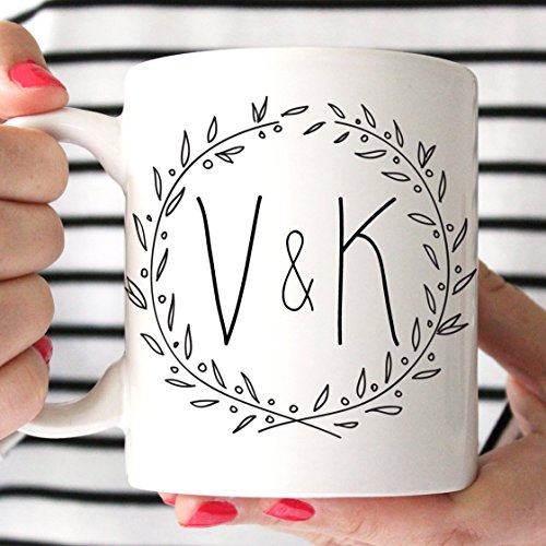 Personalized Initials Ceramic Coffee Mug