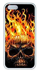 Cool Skull 09 - iPhone 5S Case Funny Lovely Best Cool Customize White Cover