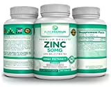 Premium Zinc Oxide/Citrate Supplement by PurePremium Supplements [100 Tablets, 50mg] | Supports Immune System & Reproductive Health | Antioxidant Properties & Increased Energy Production Review