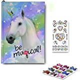 SMITCO Diary for Girls - 5, 6, 7, 8, 9, 10 Year Old Light-Up Unicorn Journal with Blank Lined Pages and Stickers
