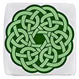 18 Inch 6-Sided Cube Ottoman Celtic Knot Wreath