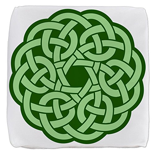 18 Inch 6-Sided Cube Ottoman Celtic Knot Wreath by Royal Lion