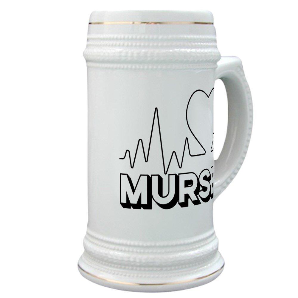 CafePress - Murse - Beer Stein, 22 oz. Ceramic Drinking Mug
