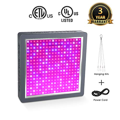 MARS HYDRO 1600W Led Grow Light for Indoor Plants Full Spectrum Grow Lights Veg and Flower Growing Light Bulbs for Hydroponics Greenhouse (MarsII 1600W) - 24' Whole House Fan