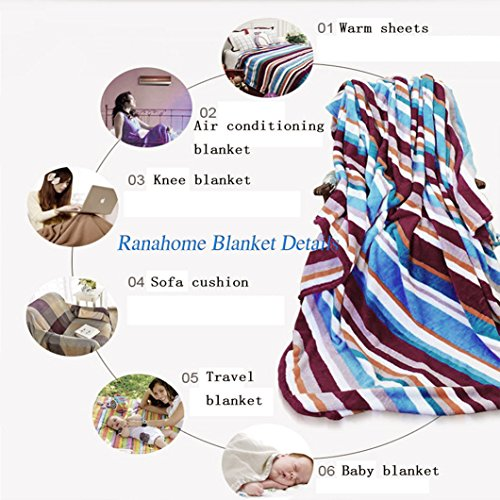 Unique Custom Double Sides Print Flannel Blankets Boho Decor Sunshine Clouds Nature Mountain And Valley Sun Divider In College Landscape Super Soft Blanketry for Bed Couch, Twin Size 60 x 70 Inches by Ralahome (Image #6)