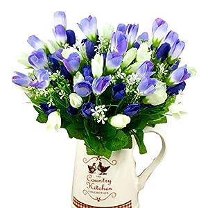 MARJON Flowers1 Bouquet 15 Heads Artificial Tulip Bud Flowers Home Wedding Party Decor 12