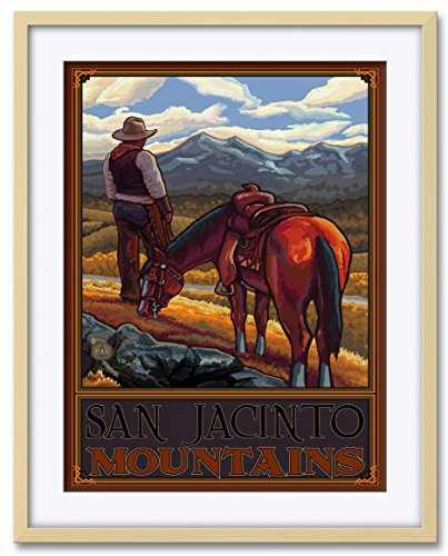 Northwest Art Mall San Jacinto Mountains Professionally Framed & Matted Giclee Travel Art Print by Paul A. Lanquist. Print Size: 18