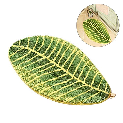 Green Leaf Shaped Anti-Slip Mats Home Washable Anti-Slip Mats Innovative Kitchen Bathroom Bedroom Mats Bath Rugs