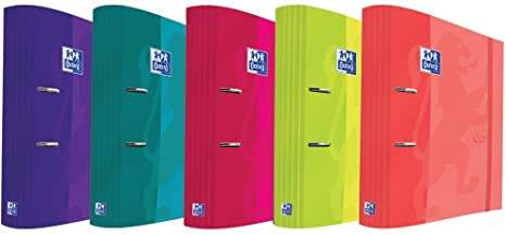 CARPETA 2 ANILLAS ARCHIVADOR 80MM A4+ OXFORD SOFT TOUCH, COLORES SURTIDOS (1ud.)