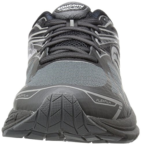 Men's Saucony Ride Black Shoe Reflex 9 Silver Running Hdd4r7